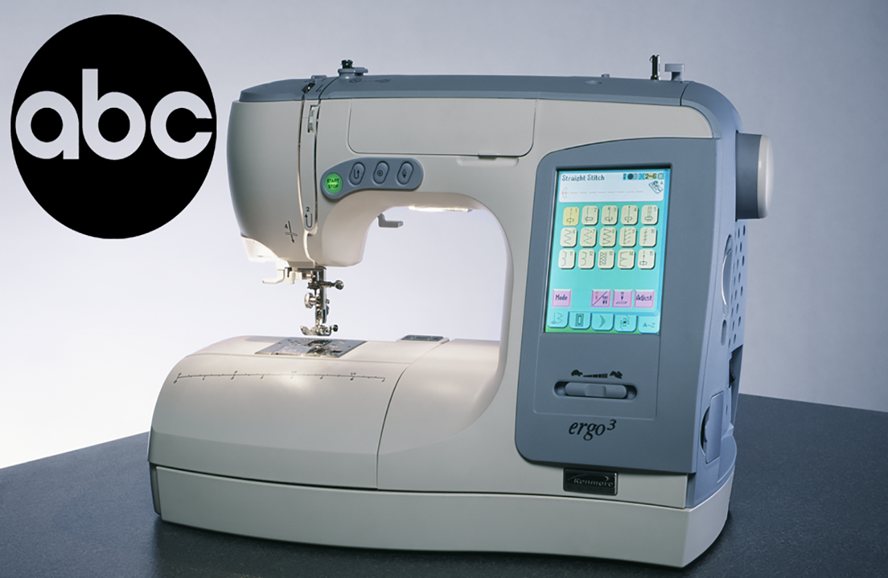 """Sears has the only ergonomically correct sewing machine in the world."""